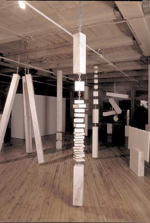 Column—Twenty-One Elements, 1979, rosa aurora marble,