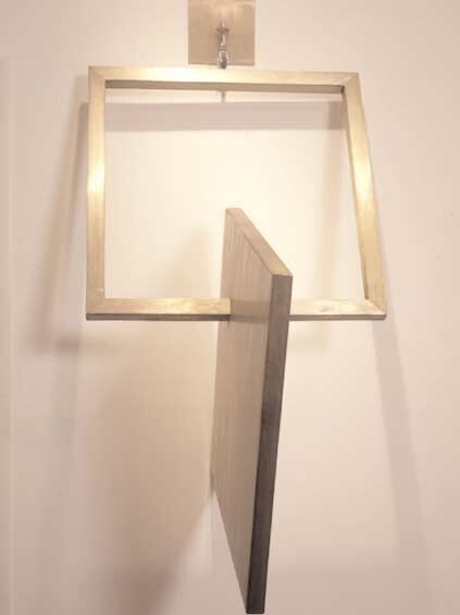 Square into Square III, 1980, Painted aluminum, 254 x 127 x 152.4 cm. Collection of the artist.