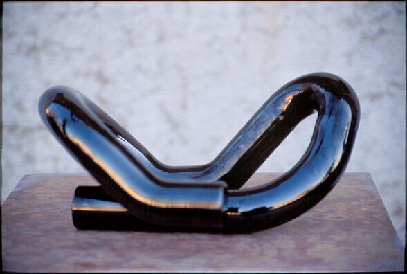 Elemento trovato, 2003, plated steel. 17 x 33 x 27 cm. Collection of the artist