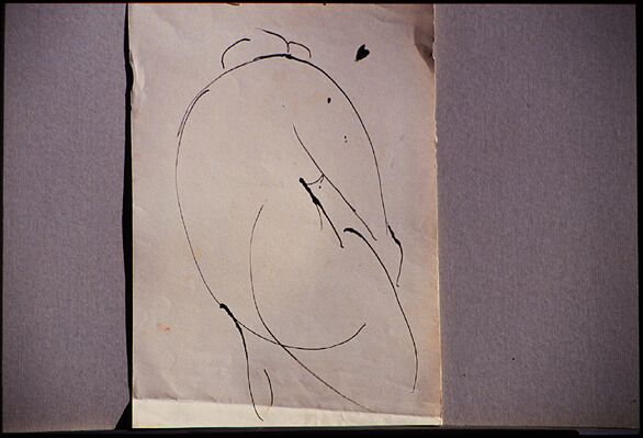 Figura II (study), 1958, India ink on paper, 35 x 25 cm. Collection of the artist.
