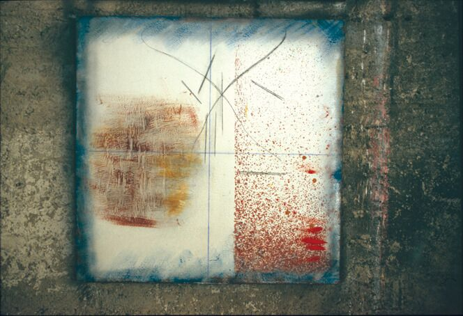 Gestualità I, 2005, mixed media on wood, 100 x 100 cm. Collection of the artist