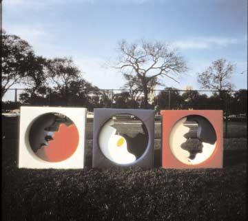 Amore—Love I, II, III, 1968 Naugahyde and wood, 158 x 158 x 31 cm. Collection of the artist.