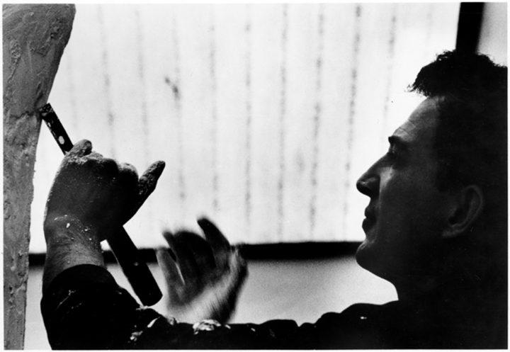 Ferrari working on Vita. Midway Studios, University of Chicago, IL, USA, 1968. Personal photograph.