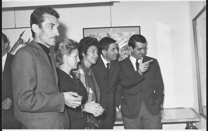 Ferrari exhibition. Bepi Fontana, Eugenio Degani, and Gandini. Galleria La Cornice, Verona, Italy, 1963. Personal photograph.