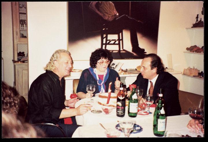 Ferrari with Anna Maria Lelli, director of the Istituto Italiano di Cultura, and Leo Nucci, opera singer