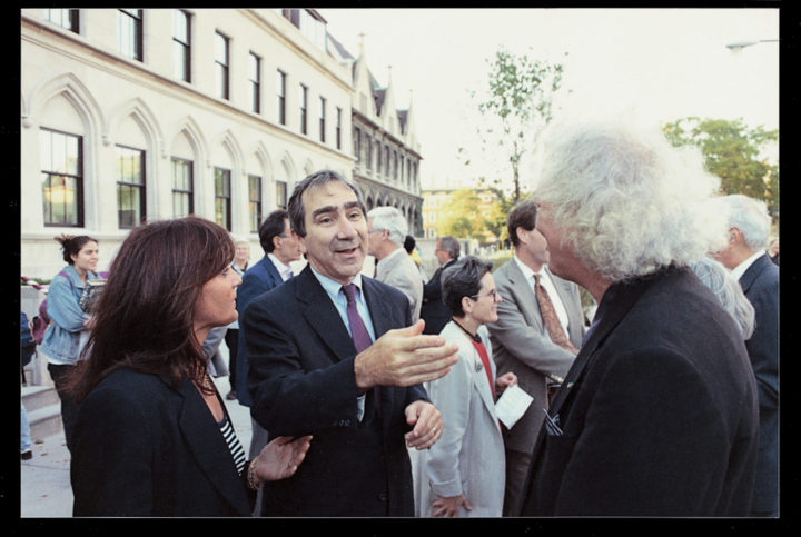 Hugo F. Sonnenschein , president of the University of Chicago, with Marisa and Virginio