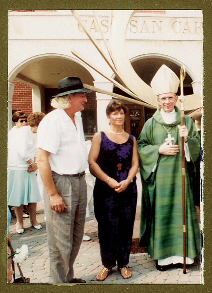 Virginio and Marisa with Joseph Cardinal Bernardin, Archbishop of Chicago