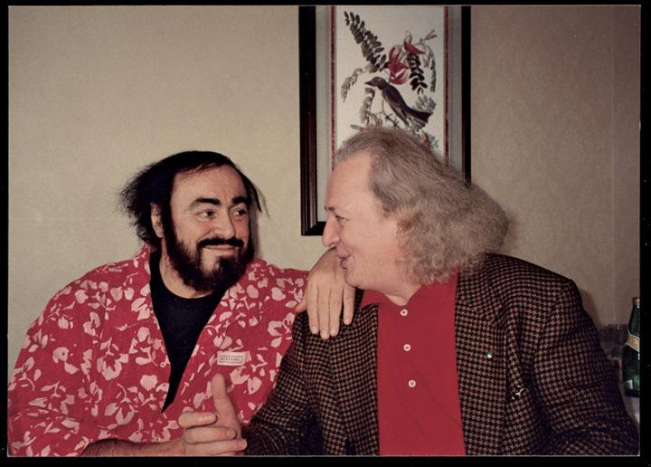 Luciano Pavarotti, opera singer, with Ferrari