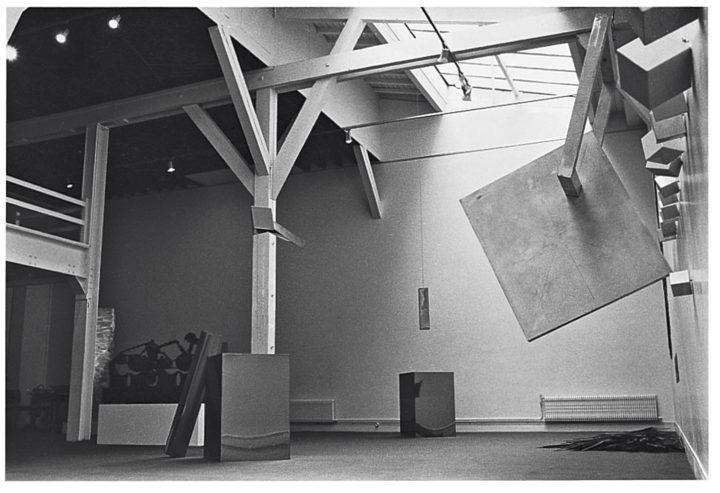 Virginio Ferrari exhibition, general view. Paris Art Center, Paris, France, 1985. Personal photographs (two images).