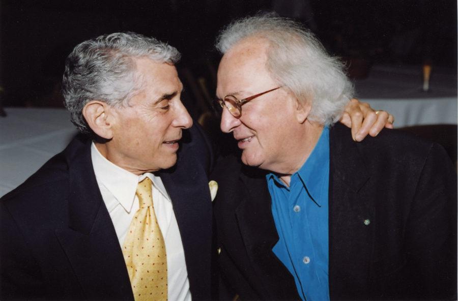 Walter Jacobson, news anchor, with Ferrari