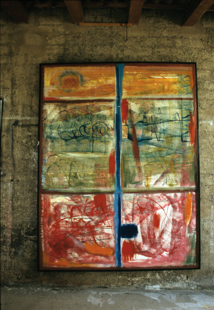 Al Guado, 2004-5, mixed media on canvas, 267 x 206 cm. Collection of the artist.