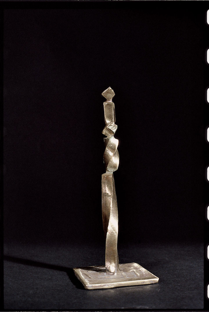 Bronzetto IV, 1989, bronze, 20 x 8 x 8 cm. Private Collection.