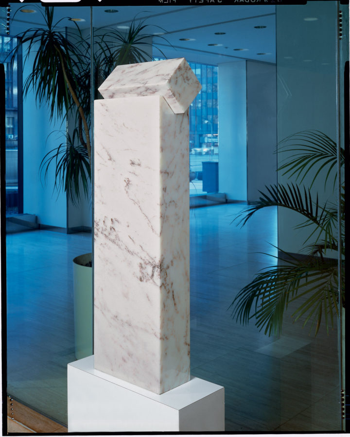 Curious I, 1979, Rosa Aurora marble, 100.5 x 30.5 x 14 cm. Collection of the Sears Bank and Trust Company, Sears Tower, Chicago, IL, USA, 1979.