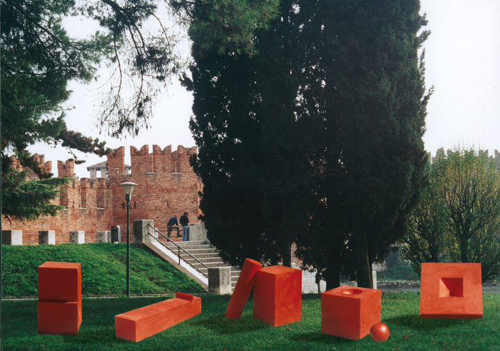 Family of Painted Steel Sculptures— Proposal for Piazza Arsenale, Verona, Italy