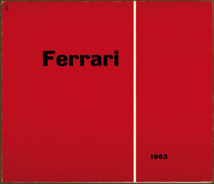 Ferrari, Galleria La Cornice, Verona, Italy, 1963. Solo exhibition catalog.