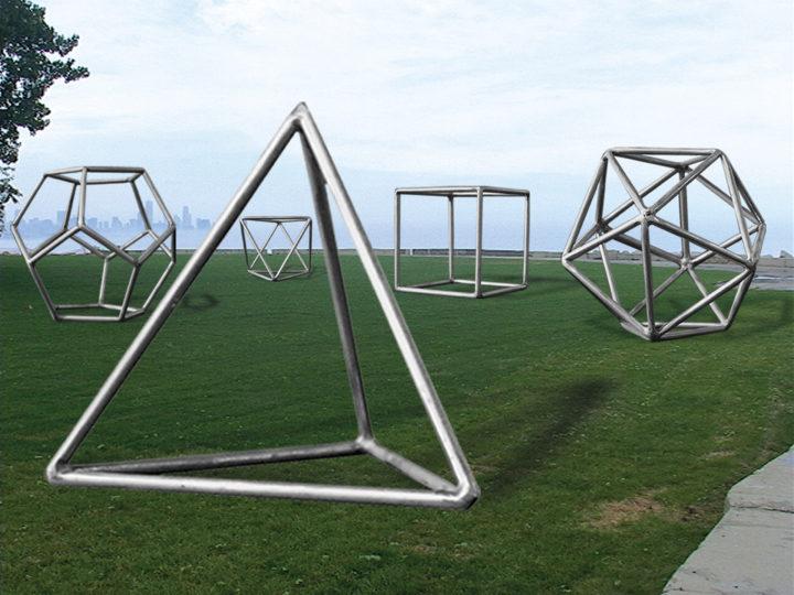 Five Platonic Bodies—Proposal for Burnham Park, Chicago
