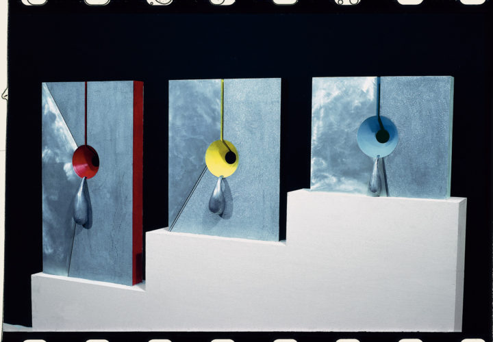 Fonte di vita I, II, III, 1967, painted aluminum, 63.5 x 50.8 x 15.2 cm. Collection of the artist