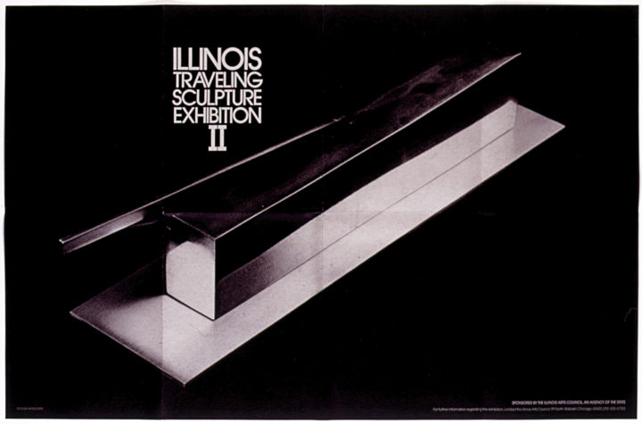 Illinois Traveling Sculpture Exhibition II, Illinois Arts Council tour, 1978–1979. Group exhibition poster (features the sculpture Mating of Forms, 1977).
