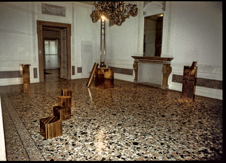 Development I, II, III, and IV, or Cristalli in formazione, 1979, bronze, 31 x 31 x 31 cm (each). Collection of the artist