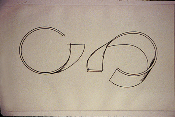 Parabolica, 1995, etching, 39.5 x 28 cm. Collection of the artist.