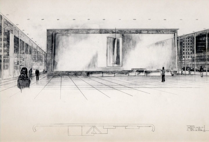 Proposal for the Richard J. Daley Memorial Tomb (drawing), Chicago, IL