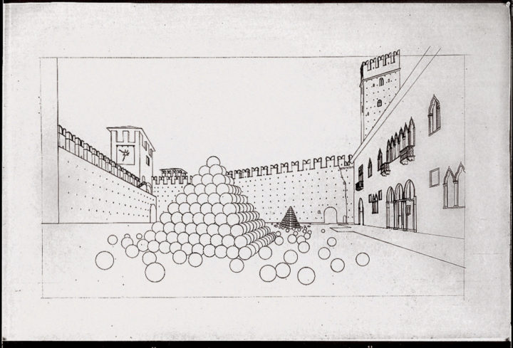 Pyramid of Spheres—Proposal for Museo di Castelvecchio, Verona, Italy