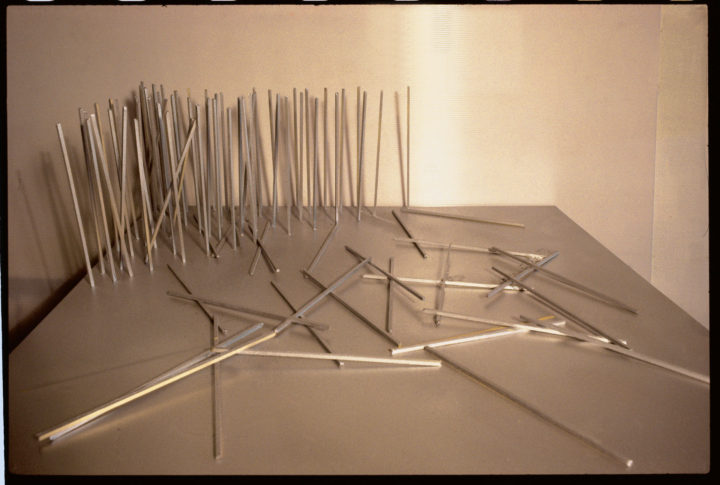 Timber III (maquette), 1977, Aluminum, 25.4 x 76.2 x 76.2 cm. Collection of the artist.