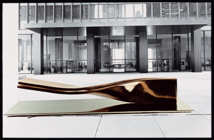 Twisted Forms—Proposal for the IBM Building, Chicago, IL 1978. Photomontage (general view). Collection of the artist.