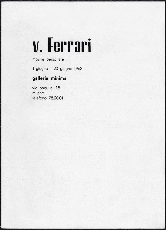 V. Ferrari: Mostra personale