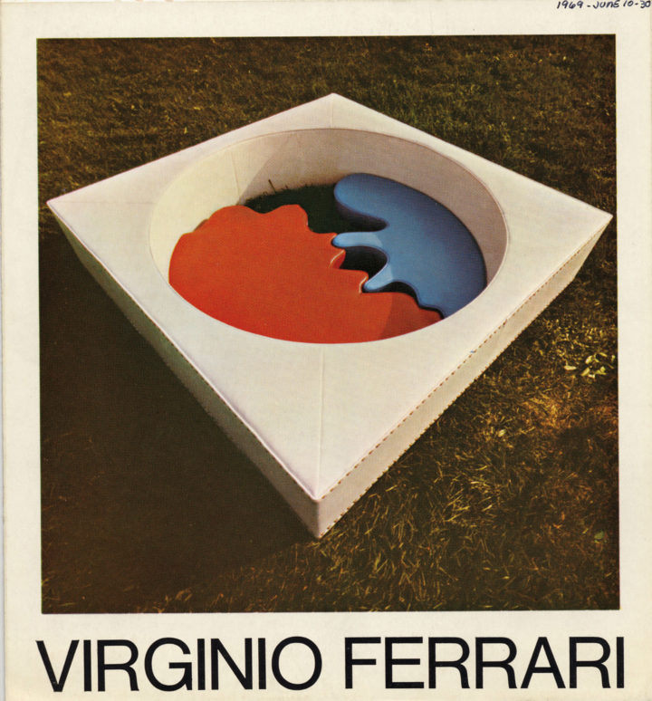 Virginio Ferrari, Franzp Arte Contemporanea, Turin, Italy, 1969. Solo exhibition catalog (cover features Amore—Love I, 1968).
