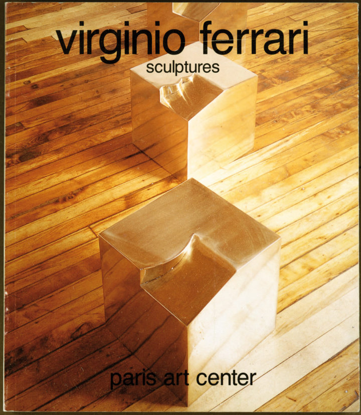 Virginio Ferrari, Paris Art Center, Paris, France, 1985. Solo exhibition catalog (cover features Development, 1979).