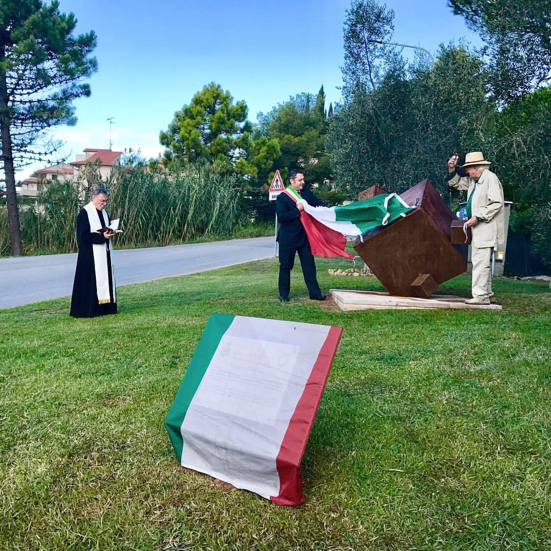 """Forme della terra"", Sculpture Dedication, Guardistallo, Italy, 09-23-2017"